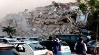 Rıza Bey Apartmanı'nın yıkılmasının ardından yaşanan panik anları kamerada