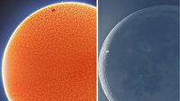 Uluslararası Uzay İstasyonu'nun Güneş ve Ay'ın önünde geçtiği anlar böyle görüntülendi