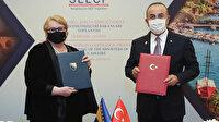 Dışişleri Bakanı Çavuşoğlu, Boşnak mevkidaşı Turkovic ile protokol imzaladı