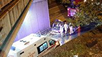 Avcılar'da otomobil viyadükten uçtu: 3 yaralı