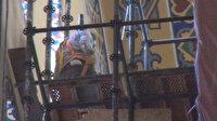 Ayasofya Camii'nde 7 yıldır bulunan iskele sökülüyor