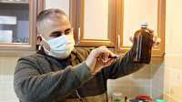 Afyonlu vatandaş evini laboratuvara çevirdi: Koronaya savaş açtı, dezenfektan ve cihazlar üretiyor