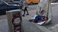 Adana'da kağıt toplayan küçük Yusuf'un ekmek teknesinde uyuyakaldığı görüntüler yüreklere dokuncu