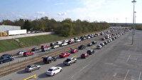 ABD'de binlerce araç yardım alabilmek için sıraya girdi