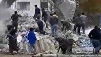Bursa'da yıkım sırasında canlarını hiçe sayıp demir toplamaya çalıştılar