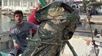 Marmaris'te balıkçı ağlarına takıldı: 300 kilogram ağırlığında
