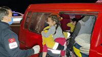 Kaza sonrası eşyaların altında kalan iki çocuk ağlayınca fark edildi