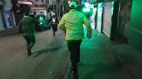 Bursa'da kısıtlamayı ihlal eden şüpheliler kovalamaca sonucu yakalandı
