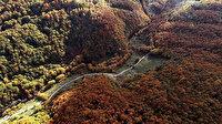 Binlerce yıldır kentin su ihtiyacını karşılayan tarihi hatta sonbahar güzelliği görenleri büyülüyor