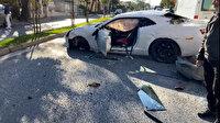 Sosyal medya fenomeni Enes Batur lüks aracıyla kaza yaptı: Kaza yerinden ilk görüntüler