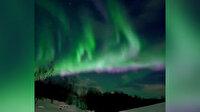 Norveç'te kuzey ışıklarının etkileyici görüntüleri amatör kameraya yansıdı.