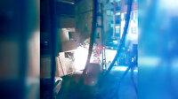 Ümraniye'de korkutan görüntü: Elektrik telleri bomba gibi patladı, olayı gören vatandaşlar paniğe kapıldı