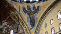 Ayasofya Camii'nde dikkat çeken ayrıntı: Serafim Meleği figürü yıllar sonra yeniden gün yüzüne çıktı