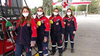 Bu benzincide çalışanların hepsi kadın: Sürücüler gözlerine inanamıyor