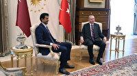 Katar Emiri Al Sani Beştepe'de: Cumhurbaşkanı Erdoğan resmi törenle karşıladı