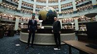 Cumhurbaşkanı Erdoğan, Katar Emiri Al Sani'ye Millet Kütüphanesi'ni gezdirdi