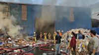 Zeytinburnu'nda geri dönüşüm tesisinde büyük yangın