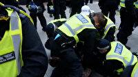 İngiltere'de aşı karşıtları ayaklandı: 60'dan fazla kişi gözaltına alındı
