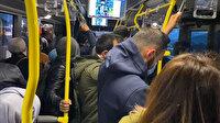 Altunizade metrobüs durağına gelenler adeta üst üste yolculuk yapmak zorunda kaldı