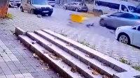 Maltepe'de motosikletle otomobil kafa kafaya çarpıştı