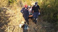 Bir anda dengesini kaybetti: Defne keserken 30 metrelik uçurumdan yuvarlandı