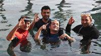Engelli Barış dalış hayalini Kleopatra havuzunda gerçekleştirdi: Mutluluğu görülmeye değer