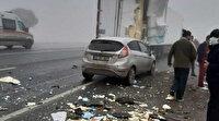 Cadde savaş alanına döndü: Bitlis'teki zincirleme trafik kazasında 1 kişi öldü, 7 kişi yaralandı