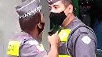 Brezilya'da yemekten geç dönen meslektaşına silah çeken polis kamerada