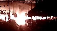 Musul'da Hz. Yunus Çarşısı'nda dev yangın