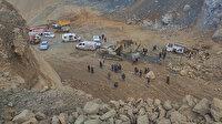 Arnavutköy'de bir taş ocağında toprak kayması nedeniyle göçük oluştu