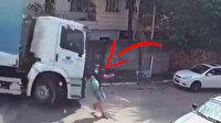 Brezilya'da freni boşalan çöp kamyonu dehşet saçtı: Yayalar ölümden son anda kurtuldu