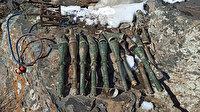 Van'da PKK'lı teröristlere ait mühimmat ele geçirildi