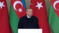 Cumhurbaşkanı Erdoğan Karabağ'da Ermenistan'ın sivil katliamı yaptığını belirterek, 'Bunun hesabını sormak boynumuzun borcudur' dedi
