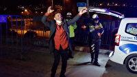 Kısıtlamada alkollü yakalanan sürücü, ceza sonrası dans edip şarkı söyledi
