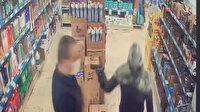 Kağıthane'de markette soygun girişimi anbean kaydedildi
