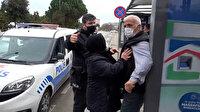 Samsun'da bir vatandaş eşinin HES kodu ile otobüse binmeye çalıştı, alınmayınca ortalığı birbirine kattı