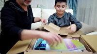 Çekmeköy'de bir baba, oğluna uzaktan eğitim için bilgisayar aldı: Gelen kargoyu görünce şok yaşadılar