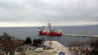 Hollanda gemisi doğal gaz aramak için Sinop Limanı'na demirledi