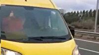 Trafikte koltuk değiştirip, dans eden sürücünün ehliyetine el konuldu