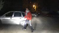 Aksaray'da bekçi-şüpheli kovalamacası film sahnelerini aratmadı: Abi vallahi cezadan kaçtım