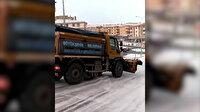 Ankaralının tuzlanmayan yolda kayan Büyükşehir Belediyesi aracına tepkisi: Allah canını almasın yeni mi geliyorsun?