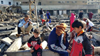Lübnan'da çadır kampının ateşe verilmesinin ardından Suriyeli mülteciler sokakta kaldı