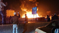 Lübnan'da Suriyeli mültecilerin çadır kampı ateşe verildi: Bölge halkı evini açtı