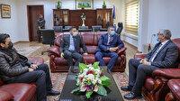 Libya İçişleri Bakanı Başağa Baykar Genel Müdürü Haluk Bayraktar'la görüştü