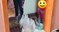 Filyasyon ekibinden alkışlanacak hareket: Küçük çocuk 'evimizde meyve yok' deyince marketten poşet poşet taşıdılar