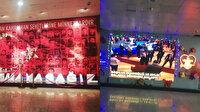 İBB binasındaki 15 Temmuz Şehitleri köşesi yeni yıl kutlama panosuna çevrildi