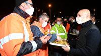 Bakan Karaismailoğlu yeni yıla Bolu Dağı'nda girdi