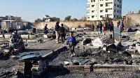 Lübnan'da çadırları ateşe verilen Suriyeli mültecilerin yatacak yeri dahi yok