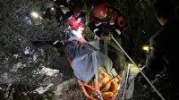 Kayalıklardan düşen ünlü iş adamı 8 saatte kurtarıldı