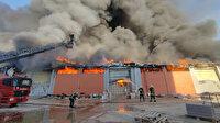 Harran Üniversitesi'nde yangın paniği: Lojistik deposundaki milyonlarca liralık malzeme alev aldı